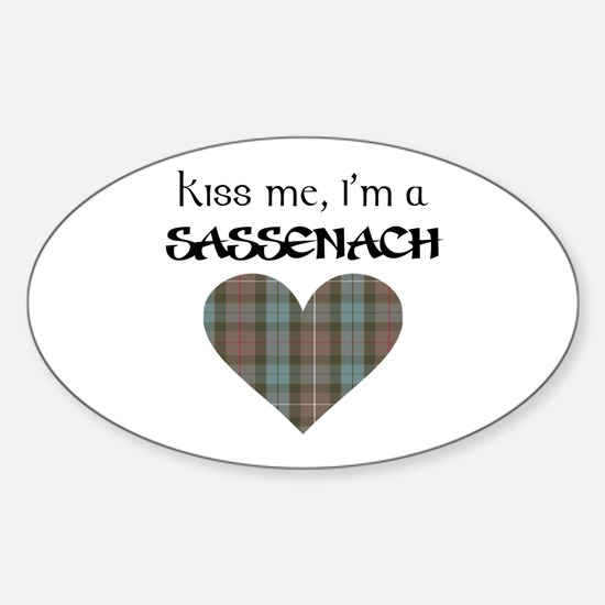 Kiss Me Sticker (Oval)