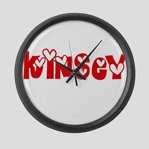 Kinsey Love Design Large Wall Clock