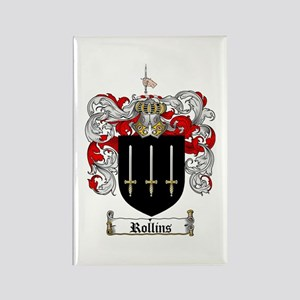 Rollins Family Crest Rectangle Magnet (10 pack)