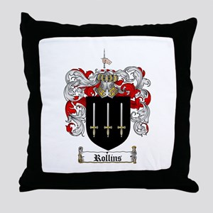Rollins Family Crest Throw Pillow
