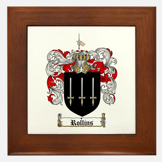 Rollins Family Crest Framed Tile