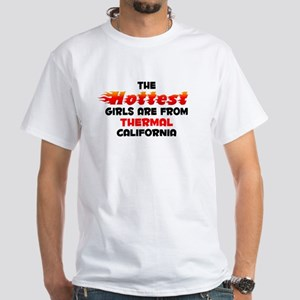 Hot Girls: Thermal, CA White T-Shirt