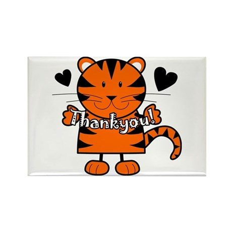Tiger Thankyou Rectangle Magnet