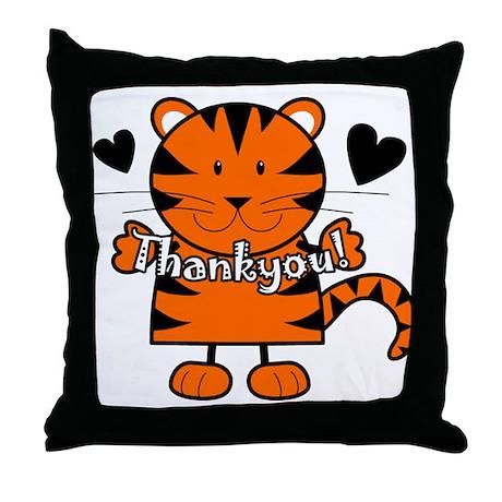Tiger Thankyou Throw Pillow