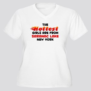 Hot Girls: Saranac Lake, NY Women's Plus Size V-Ne