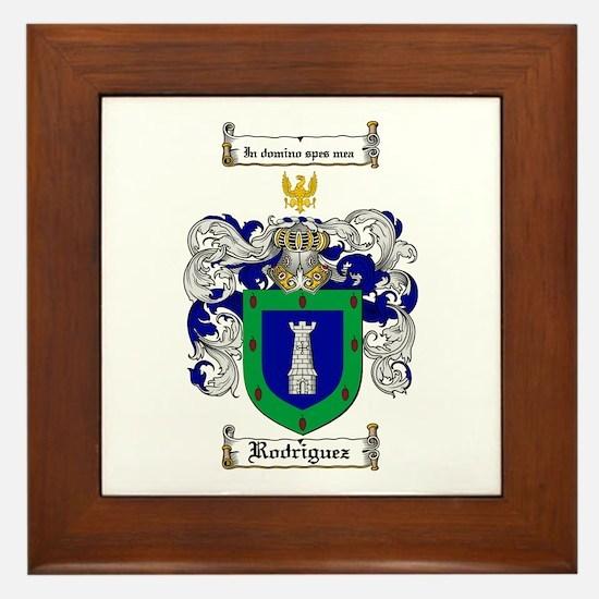 Rodriguez Coat of Arms Framed Tile
