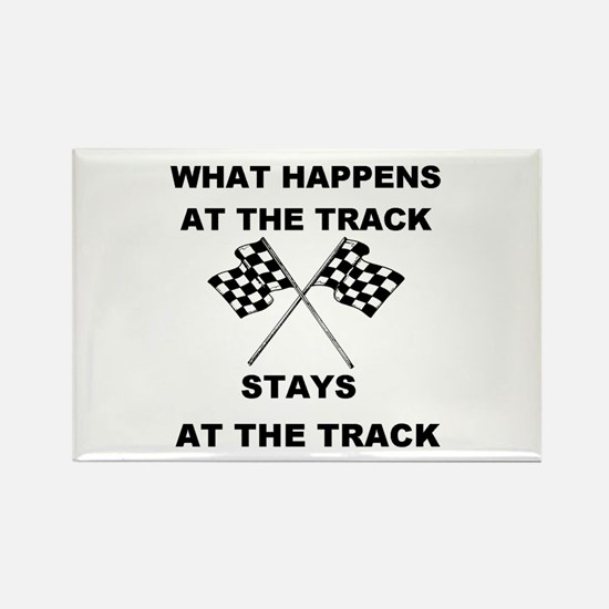 AT THE TRACK Rectangle Magnet
