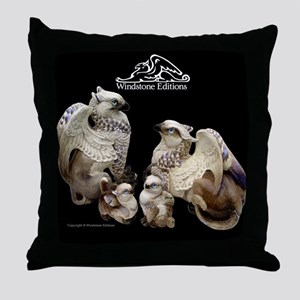 Labradorite Griffins Throw Pillow