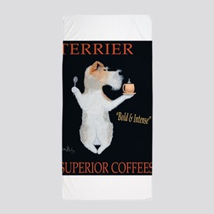 Terrier Superior Coffees Beach Towel