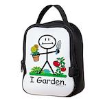 Gardening Stick Figure Neoprene Lunch Bag