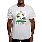 Gardening Stick Figure Light T-Shirt