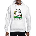 Gardening Stick Figure Hooded Sweatshirt
