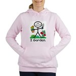 Gardening Stick Figure Women's Hooded Sweatshirt
