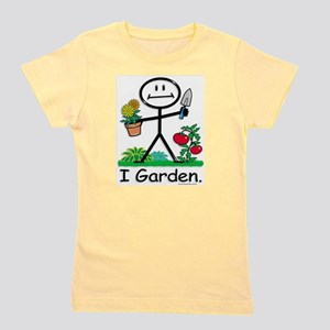 Gardening Stick Figure Girl's Tee