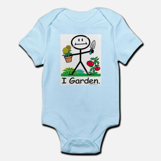Gardening Stick Figure Infant Bodysuit