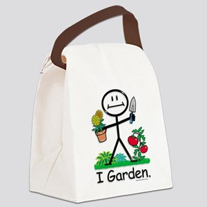 Gardening Stick Figure Canvas Lunch Bag