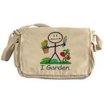 Gardening Stick Figure Messenger Bag