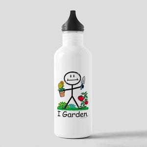 Gardening Stick Figure Stainless Water Bottle 1.0L