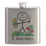 Gardening Stick Figure Flask