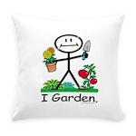 Gardening Stick Figure Everyday Pillow