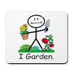Gardening Stick Figure Mousepad