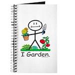 Gardening Stick Figure Journal