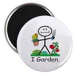 Gardening Stick Figure Magnet
