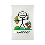 Gardening Stick Figure Rectangle Magnet (100 pack)