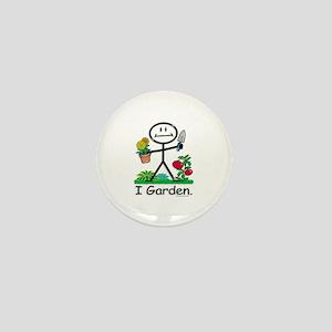 Gardening Stick Figure Mini Button