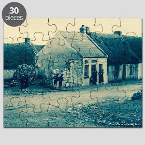 Cyanotype Claddagh Puzzle