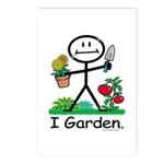 Gardening Stick Figure Postcards (Package of 8)