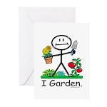 Gardening Stick Figure Greeting Cards (Pk of 20)