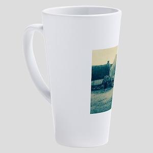 Cyanotype Claddagh 17 oz Latte Mug