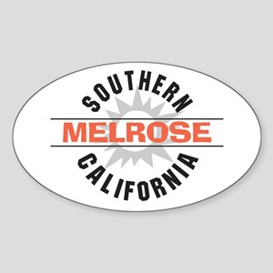 Melrose California Sticker (Oval)