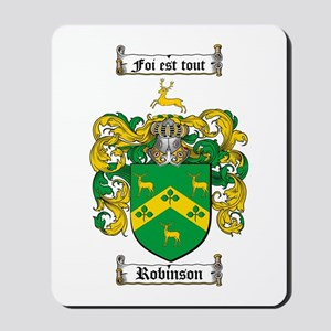 Robinson Coat of Arms Mousepad