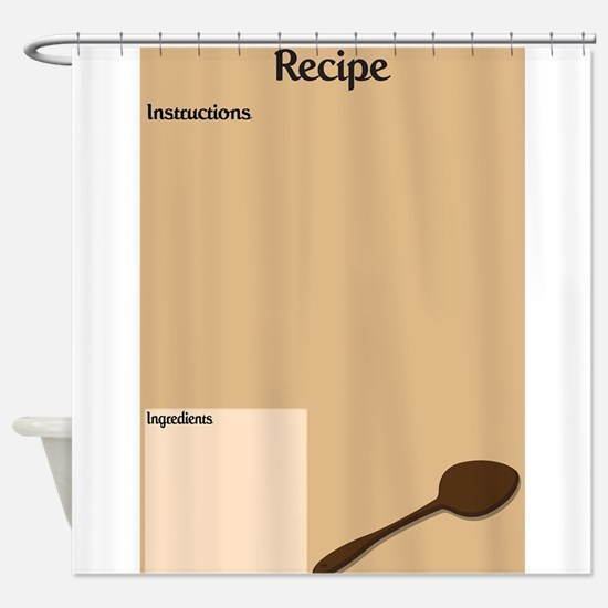 Recipe Page Shower Curtain
