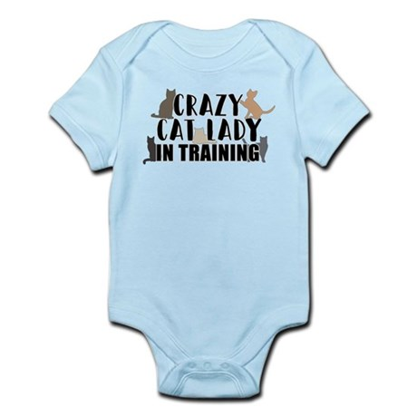 CafePress Crazy Cat Lady in Training Long Sleeve Infant Body Cute Long Sleeve Infant Bodysuit Baby Romper