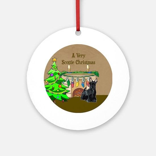 A Very Scottie Christmas Ornament (Round)