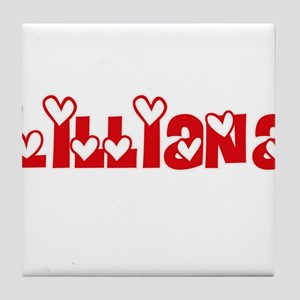 Lilliana Love Design Tile Coaster