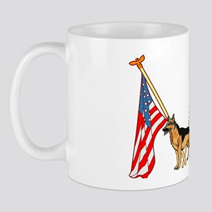 American Flags German Shepard Mug