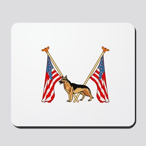 American Flags German Shepard Mousepad