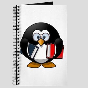 Cute Cartoon Smart Bookworm Penguin Journal
