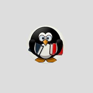 Cute Cartoon Smart Bookworm Penguin Mini Button