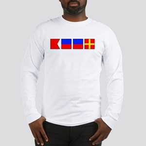 Nautical Flag Alphabet BEER  Long Sleeve T-Shirt