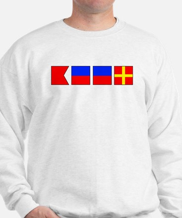 Nautical Flag Alphabet BEER  Sweatshirt