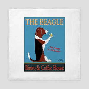 The Beagle Bistro & Coffee Shop Queen Duvet