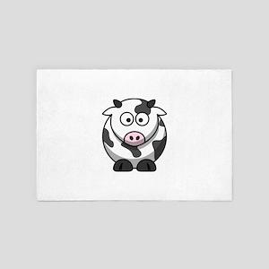 Cute Cartoon Cow 4' x 6' Rug