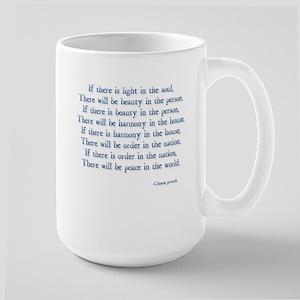 beauty light peace Large Mug