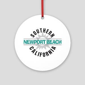 Newport Beach California Ornament (Round)