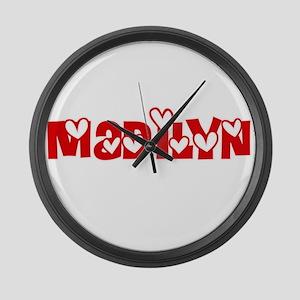 Madilyn Love Design Large Wall Clock
